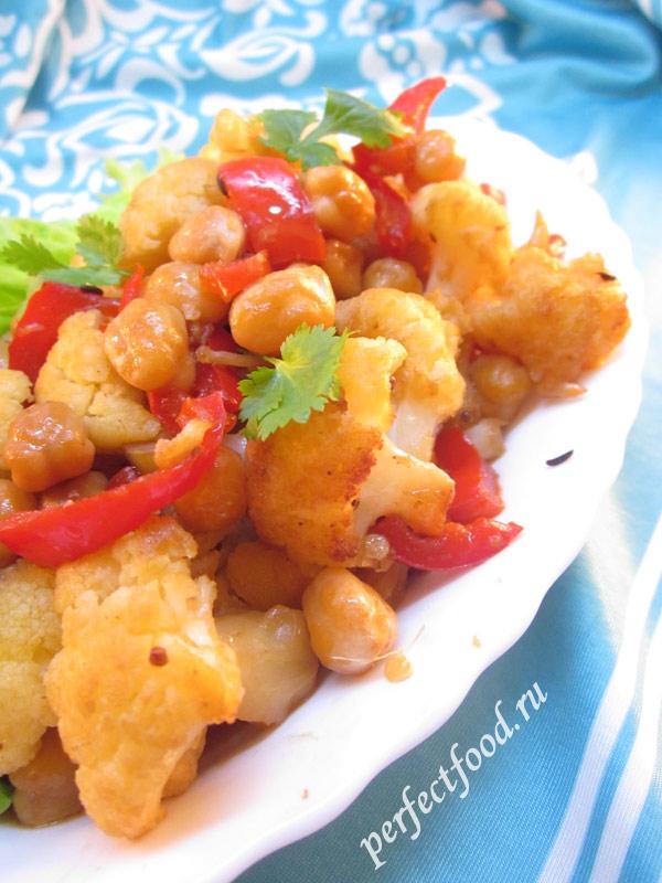 Вкусный рецепт приготовления цветной капусты с фото