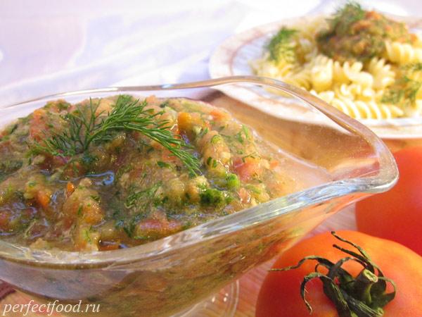 Томатный соус для спагетти с имбирём