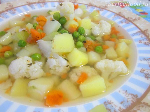 Детский овощной суп - рецепт