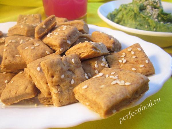 Солёные домашние крекеры — рецепт с видео