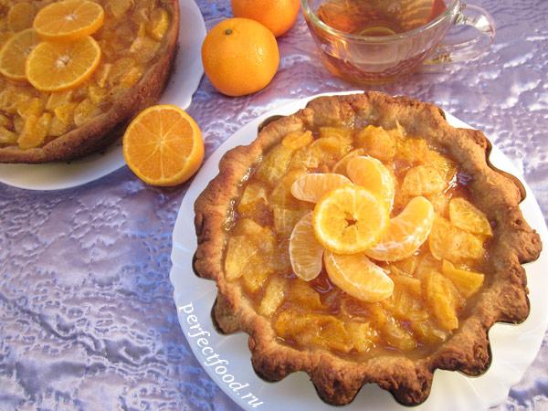 Согревающий мандариновый пирог — ВИДЕО-рецепт