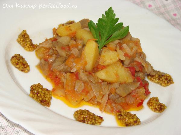 Овощное рагу с грибами — рецепт с фото