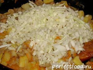 Овощное рагу с грибами - фото-рецепт 4
