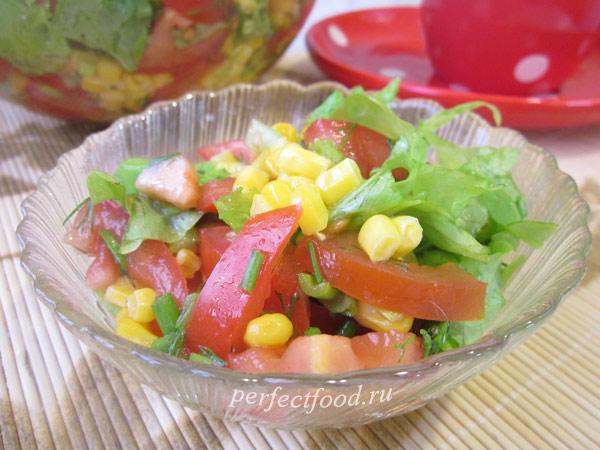 Салат с кукурузой - рецепт с фото