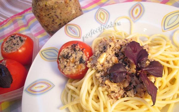 Соус песто с фиолетовым базиликом - рецепт с фото
