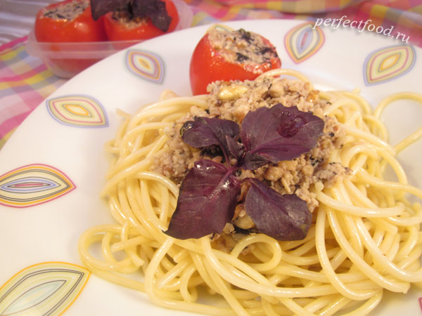 Как сделать соус песто с фиолетовым базиликом