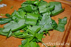 Рецепт приготовления грибов вешенок со шпинатным соусом-5