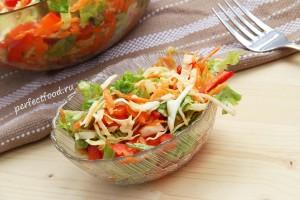 Салат из капусты с морковью и болгарским перцем