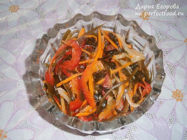 Салат с морской капустой - рецепт