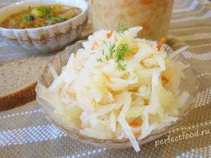 Квашеная капуста - рецепт приготовления