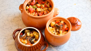 овощи запеченные в духовке с грибами в горшочках фото 4