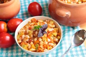 Фасоль с овощами в духовке рецепт