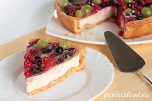 Песочный пирог с творогом рецепт с фото 1