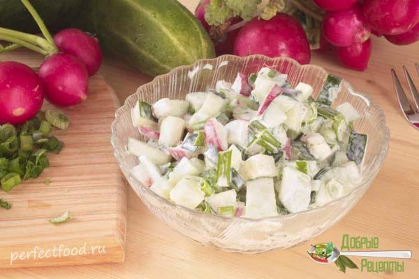 Салат из редиски и огурцов рецепт