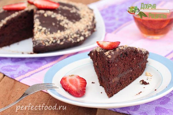 Постный шоколадный торт без яиц и молока. Рецепт с фото и видео