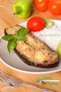 Фаршированные баклажаны с сыром рецепт