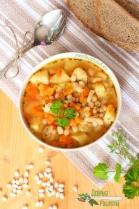 Как приготовить постный суп с фасолью - рецепт с фото