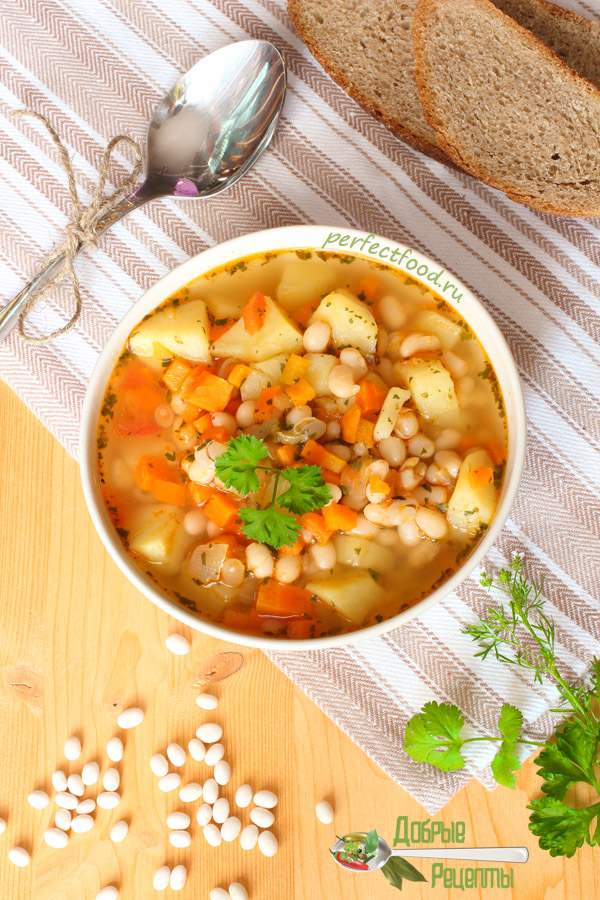Постный суп с фасолью — рецепт с фото