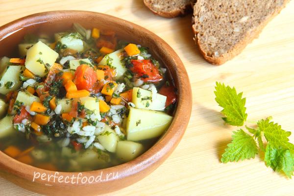 Как приготовить Суп из крапивы и щавеля - рецепт