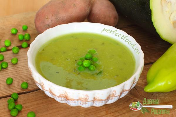 Зелёный суп-пюре — рецепт
