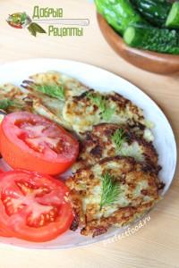 Драники из картофеля и кабачков - рецепт с фото