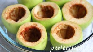 Фаршированные яблоки - рецепт с фото 1
