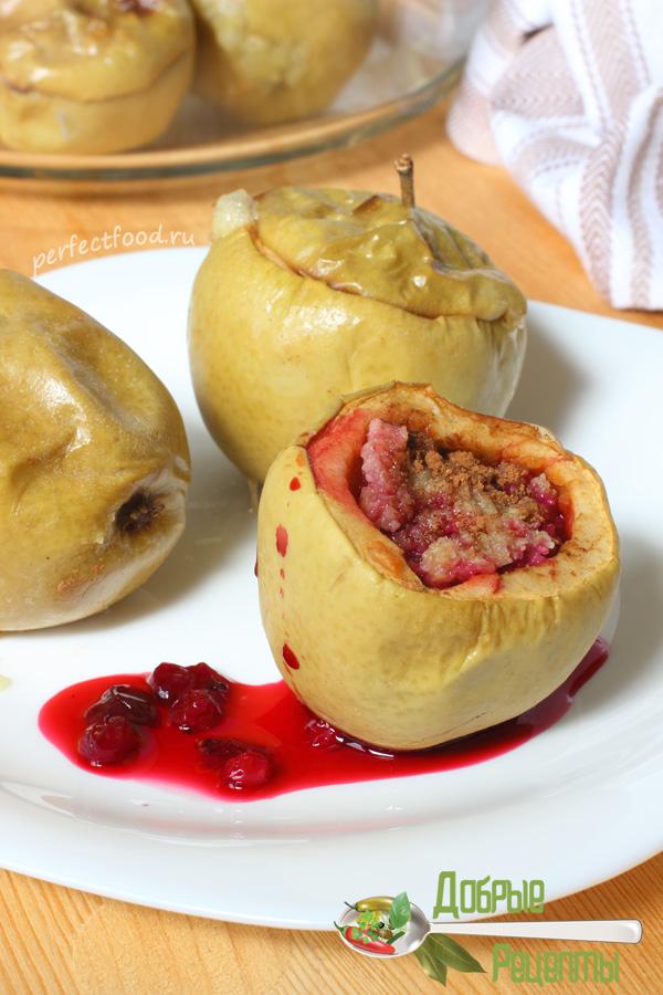 Фаршированные яблоки в духовке — рецепт с фото и видео