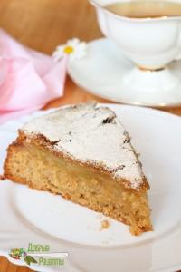 Пирог Шарлотка с яблоками - рецепт с фото