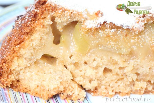 Рецепт постной шарлотки с яблоками