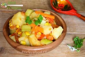 Овощное рагу с кабачками - рецепт