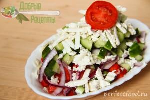 Салат шопский - рецепт с фото и видео