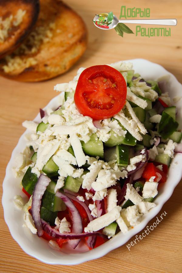 Шопский салат - рецепт с фото