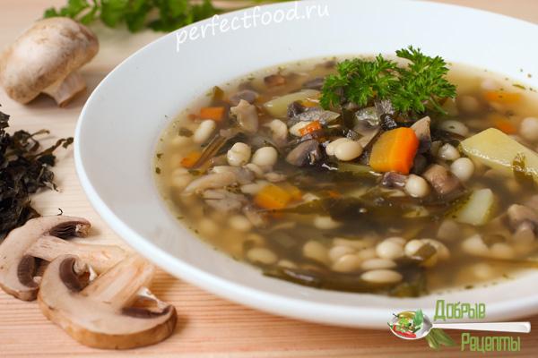 Суп из морской капусты. Рецепт с фото