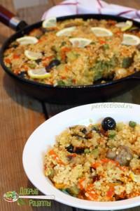 Как приготовить вегетарианскую паэлью с грибами - рецепт с фото