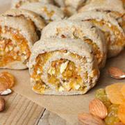 Постное ржаное печенье с сухофруктами и миндалём - рецепт