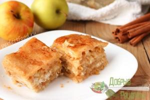Насыпной пирог с яблоками - рецепт с фото