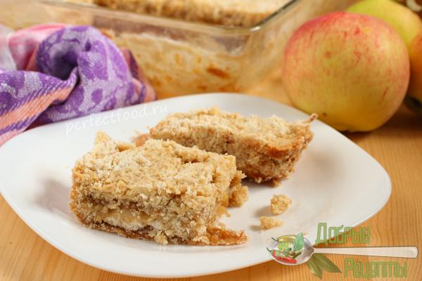 Насыпной яблочный пирог - рецепт с фото