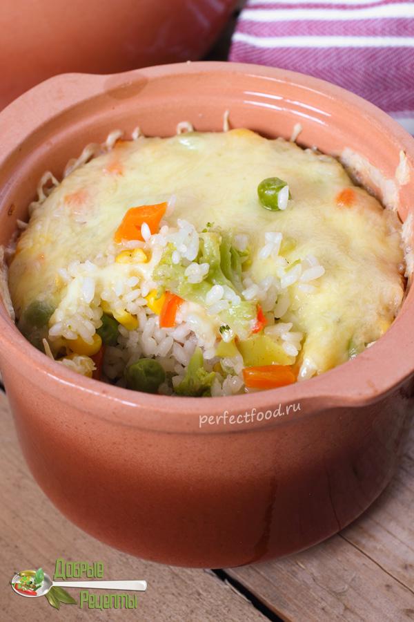 Рис в горшочках в духовке - рецепт с фото и видео