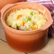Рис в горшочках под сырной корочкой