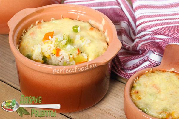 Рис в горшочках в духовке - видео-рецепт с фото
