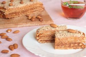 Как приготовить вафельный торт без яиц - рецепт с фото