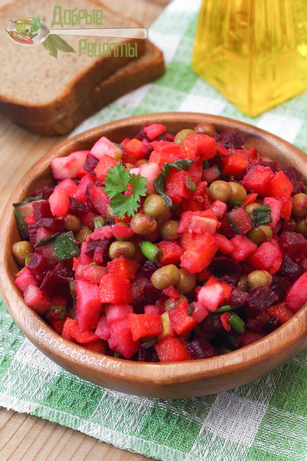 Винегрет овощной - рецепт с фото