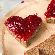 Сладкие бутерброды-сердечки