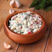 Картофельный салат со сметаной