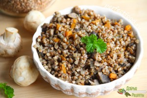 Гречневая каша с грибами - рецепт