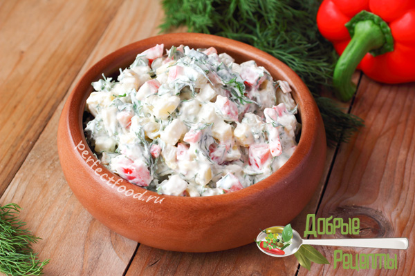 Картофельный салат - рецепт с фото
