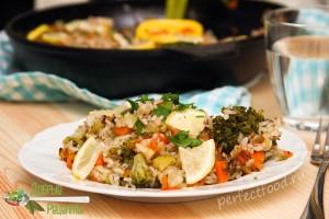 Овощная паэлья - рецепт с фото