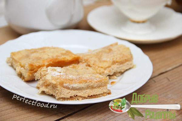 Пирог насыпной с творогом - рецепт с фото