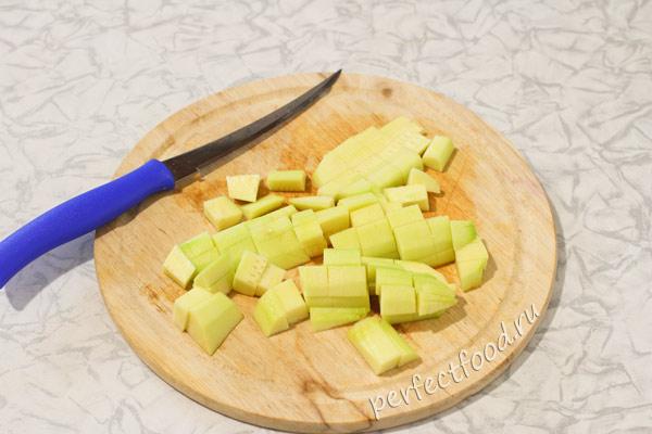 Кабачок для вегетарианского плова из булгура