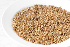 Пшеница, замоченная на ночь